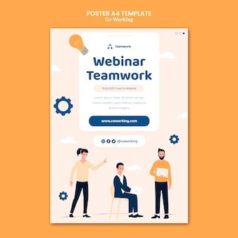 Kreatywny szablon plakatu coworkingowego