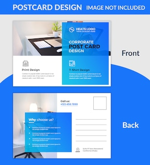 Kreatywny szablon pocztówki firmy