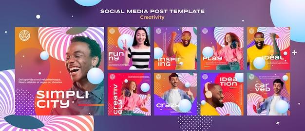 Kreatywny szablon postu w mediach społecznościowych