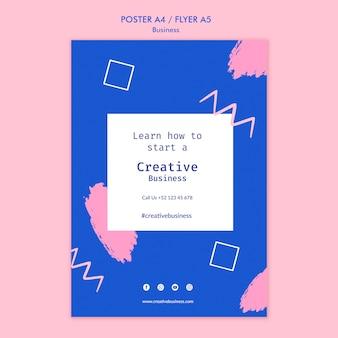 Kreatywny szablon wydruku biznesowego
