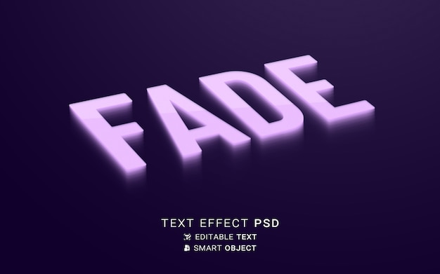 Kreatywny znikający efekt tekstu
