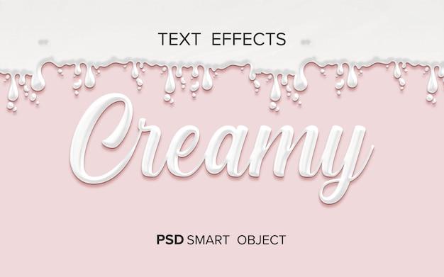 Kremowy efekt płynnego tekstu