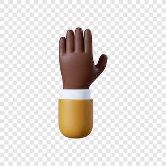 Kreskówka afrykańsko-amerykański biznesmen otwartej dłoni gest
