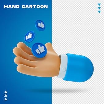 Kreskówka ręka w renderowaniu 3d
