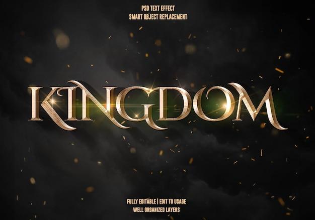 Królestwo efekt stylu tekstowego szablon premium psd