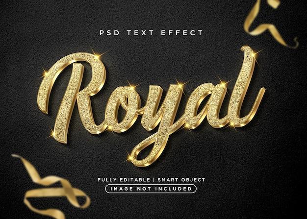 Królewski efekt tekstowy w stylu 3d