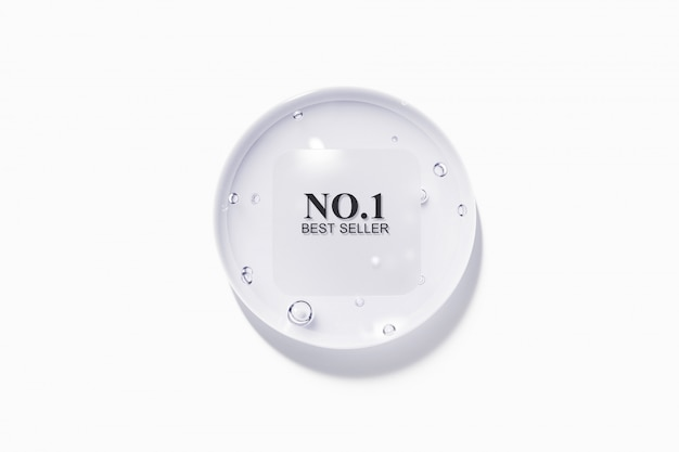 Kropla wody z plastikową mętną szorstką etykietą