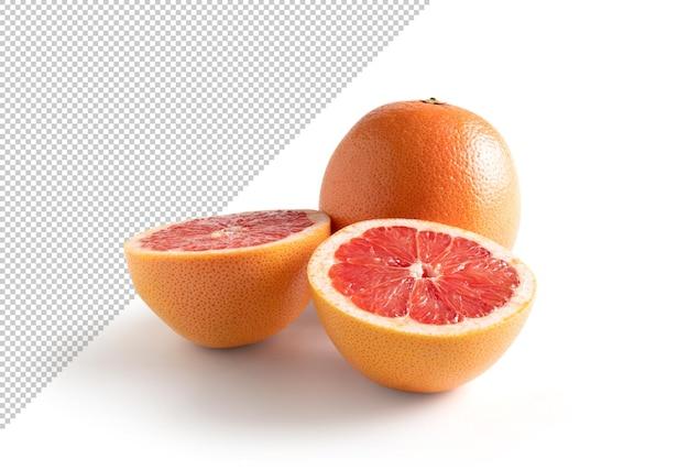 Krwawa pomarańcza wyizolowana z tła