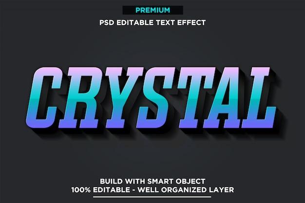 Kryształ - 3d styl czcionki efekt szablonu szablonu psd