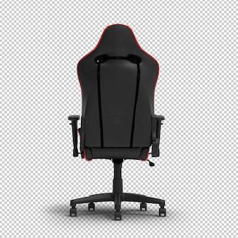 Krzesło do gier 3d racing na białym tle