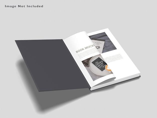 Książka makieta na białym tle