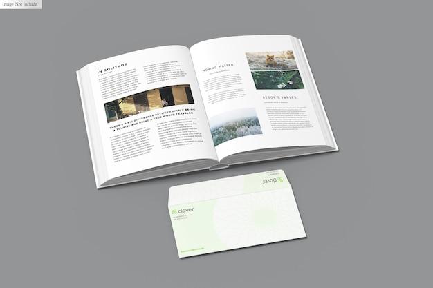 Książka z makietą koperty