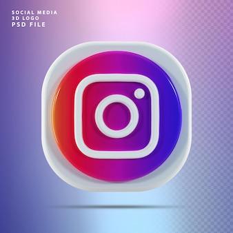 Kształt renderowania 3d ikony instagram