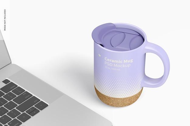 Kubek ceramiczny o pojemności 15 uncji z makietą pokrywki