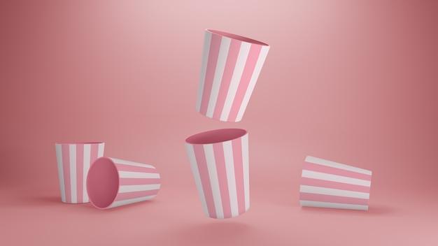 Kubek milkshake makieta realistyczna