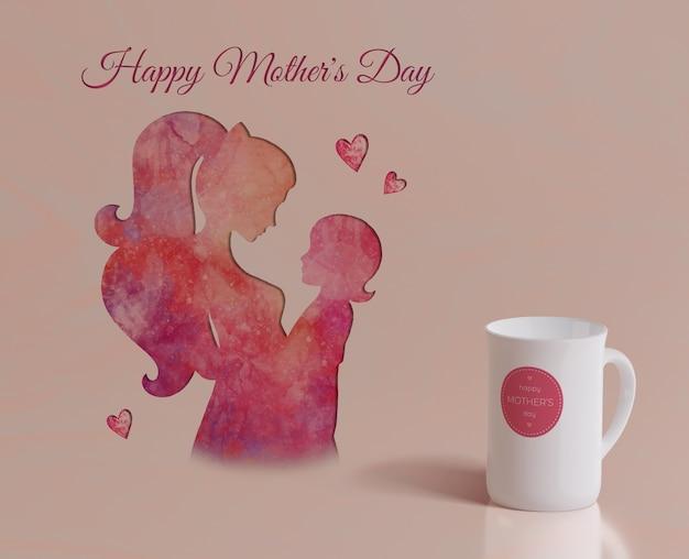 Kubek z bliska dzień matki