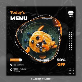 Kulinarne szablony bannerów mediów społecznościowych