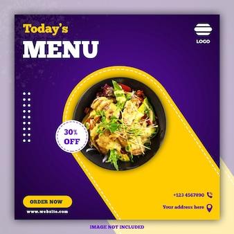 Kulinarne szablony postów w mediach społecznościowych