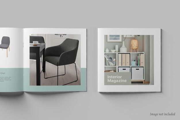 Kwadratowa broszura i makieta katalogu