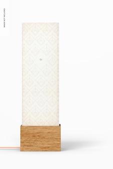 Kwadratowa lampa stołowa z drewna