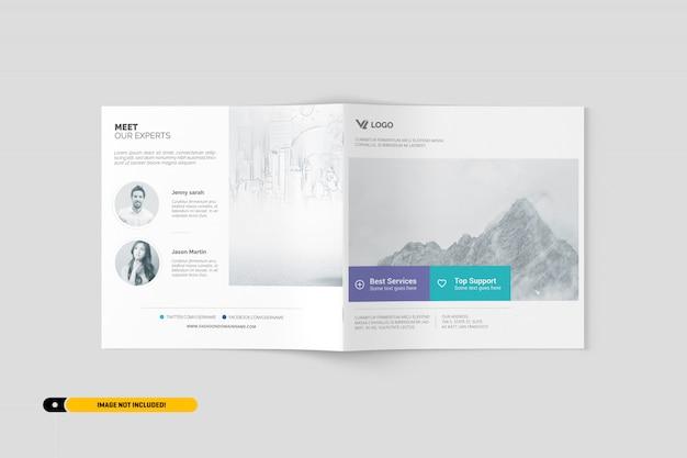 Kwadratowa makieta broszurowa
