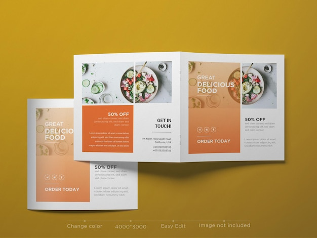 Kwadratowa makieta broszury