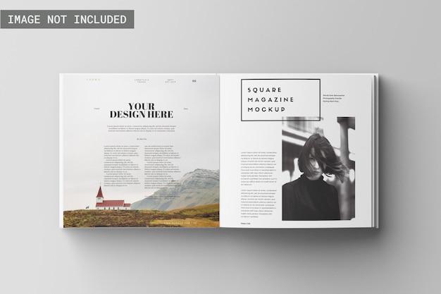 Kwadratowa makieta magazynu z górnym kątem widzenia