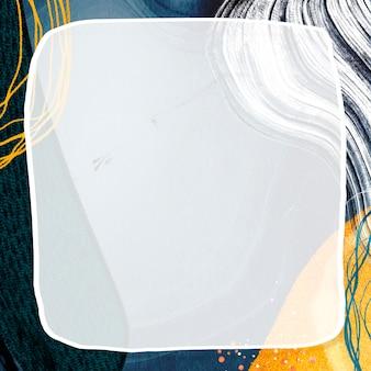 Kwadratowa ramka na makiecie tła społecznościowego neo memphis