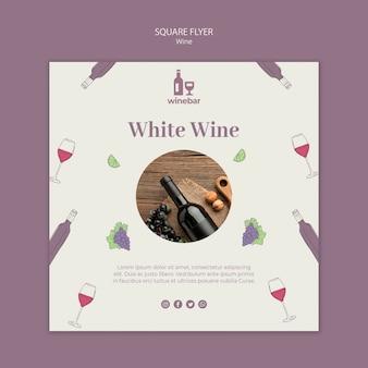 Kwadratowa ulotka do degustacji wina