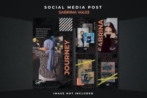 Kwadratowa ulotka szablon postu w mediach społecznościowych