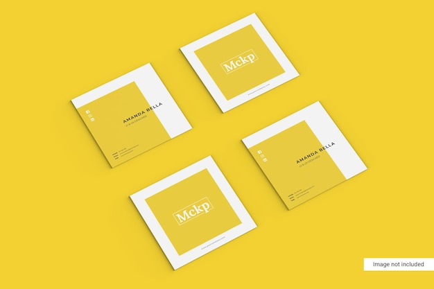 Kwadratowa wizytówka