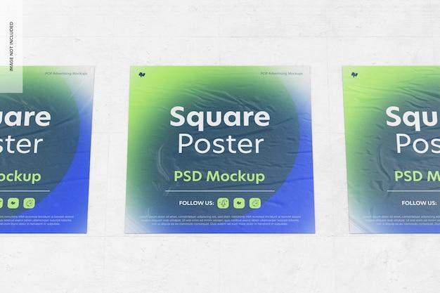Kwadratowe plakaty makieta