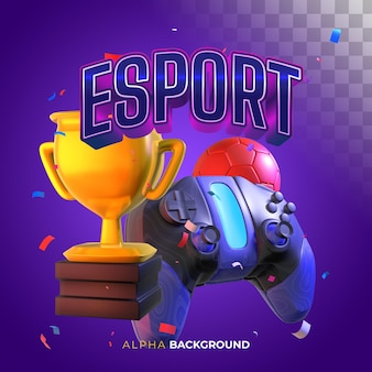 Kwadratowy baner na e-sport