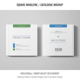 Kwadratowy magazyn lub makieta katalogowa dwóch