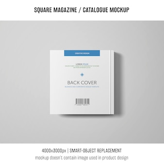 Kwadratowy magazyn lub makieta katalogu