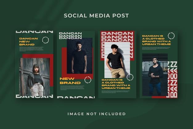 Kwadratowy social media story instagram szablon psd