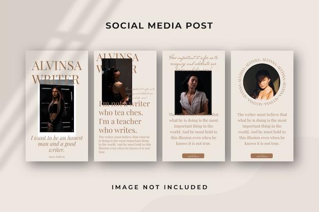 Kwadratowy szablon historii w mediach społecznościowych