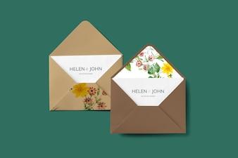 Kwiatowy wzór koperty
