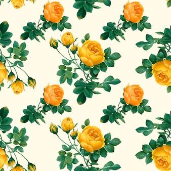 Kwiatowy wzór żółty