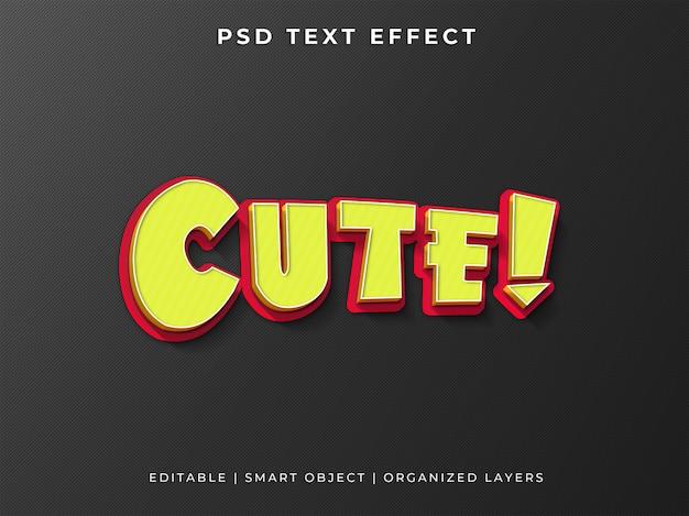 Ładny efekt stylu tekstu