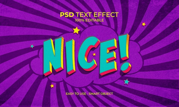 Ładny efekt tekstu pop art
