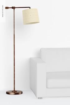 Lampa stojąca cooper z makietą sofy