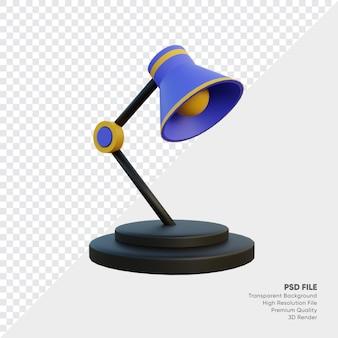 Lampa stołowa do badania ilustracji 3d