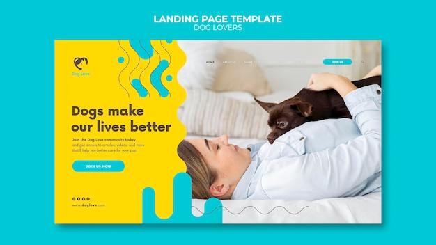 Landing page dla miłośników psów z właścicielką