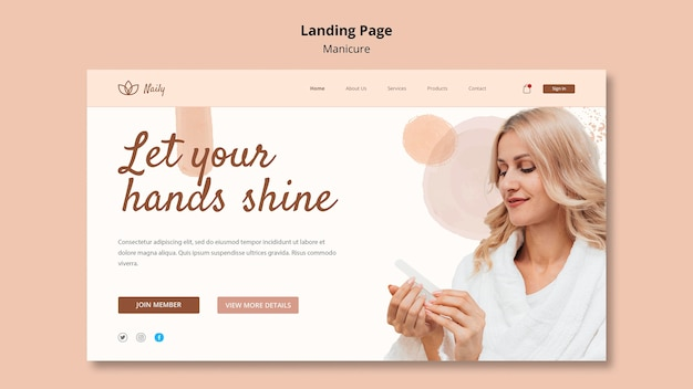 Landing page dla salonu paznokci