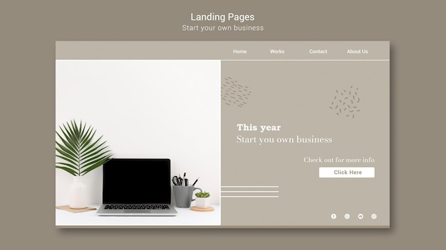 Landing page do rozpoczęcia własnej działalności