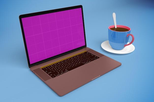Laptop w kawiarni