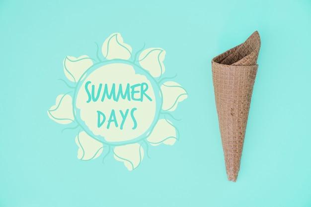 Lato literowanie tło z letnich elementów