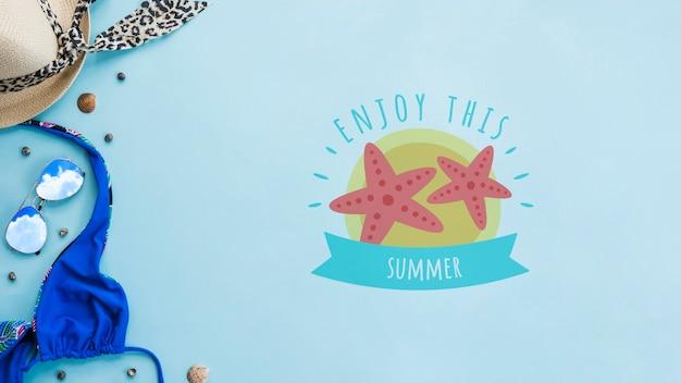 Lato Literowanie Tło Z Letnich Elementów Darmowe Psd
