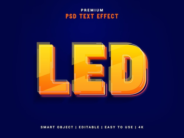 Led typographic text effect maker